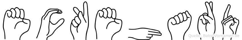 Eckehard im Fingeralphabet der Deutschen Gebärdensprache