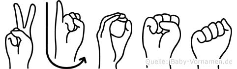 Vjosa in Fingersprache für Gehörlose