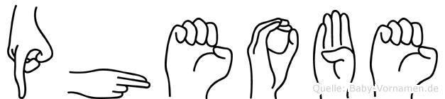 Pheobe in Fingersprache für Gehörlose