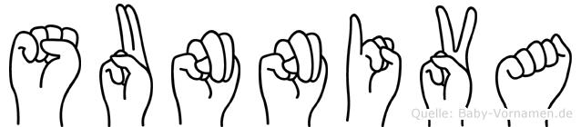 Sunniva im Fingeralphabet der Deutschen Gebärdensprache