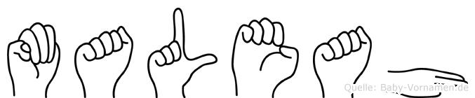 Maleah in Fingersprache für Gehörlose