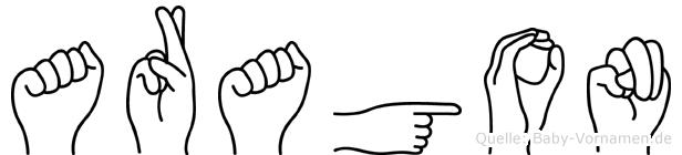 Aragon in Fingersprache für Gehörlose