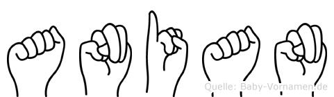 Anian im Fingeralphabet der Deutschen Gebärdensprache