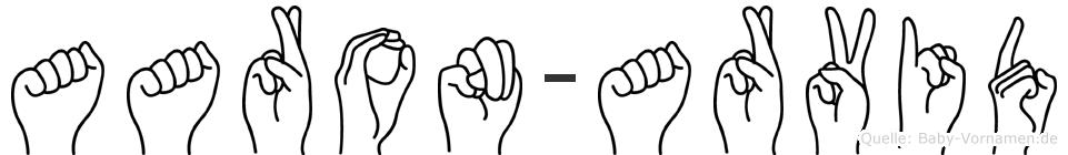 Aaron-Arvid im Fingeralphabet der Deutschen Gebärdensprache