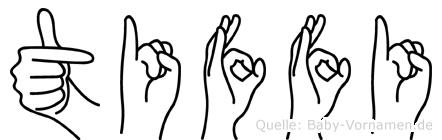 Tiffi in Fingersprache für Gehörlose