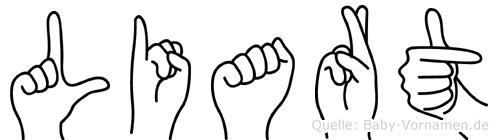Liart im Fingeralphabet der Deutschen Gebärdensprache