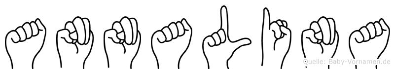 Annalina im Fingeralphabet der Deutschen Gebärdensprache
