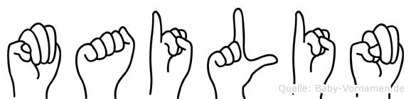 Mailin im Fingeralphabet der Deutschen Gebärdensprache