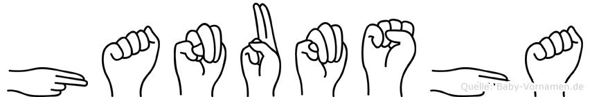 Hanumsha in Fingersprache für Gehörlose