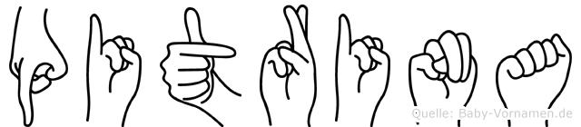 Pitrina in Fingersprache für Gehörlose