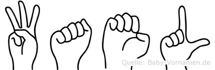 Wael in Fingersprache für Gehörlose