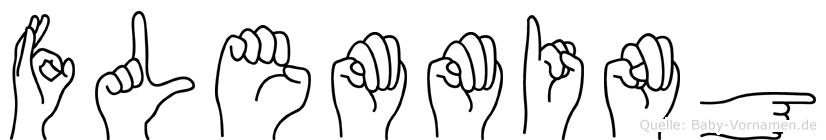 Flemming im Fingeralphabet der Deutschen Gebärdensprache