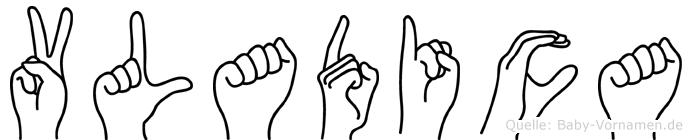 Vladica im Fingeralphabet der Deutschen Gebärdensprache