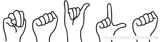 Nayla im Fingeralphabet der Deutschen Gebärdensprache