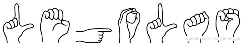 Legolas im Fingeralphabet der Deutschen Gebärdensprache