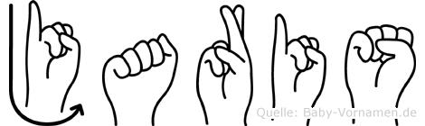 Jaris im Fingeralphabet der Deutschen Gebärdensprache
