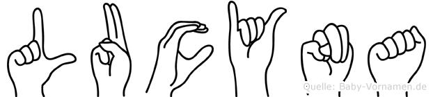 Lucyna in Fingersprache für Gehörlose