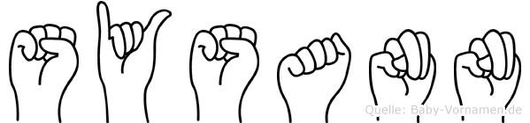 Sysann im Fingeralphabet der Deutschen Gebärdensprache