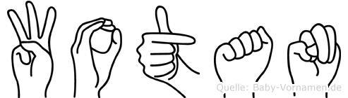 Wotan im Fingeralphabet der Deutschen Gebärdensprache