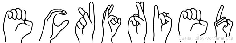 Eckfried in Fingersprache für Gehörlose