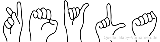 Keyla in Fingersprache für Gehörlose