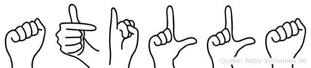 Atilla in Fingersprache für Gehörlose