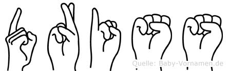 Driss in Fingersprache für Gehörlose