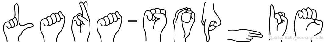 Lara-Sophie im Fingeralphabet der Deutschen Gebärdensprache