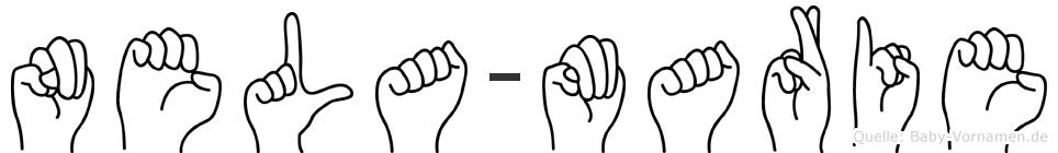 Nela-Marie im Fingeralphabet der Deutschen Gebärdensprache