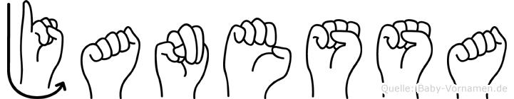 Janessa in Fingersprache für Gehörlose