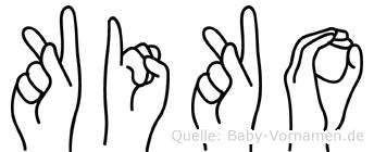 Kiko in Fingersprache für Gehörlose