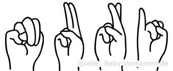 Nuri in Fingersprache für Gehörlose