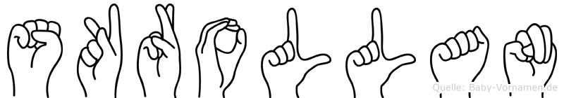 Skrollan in Fingersprache für Gehörlose
