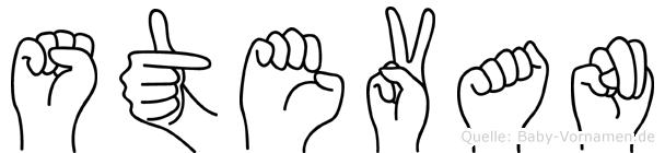Stevan im Fingeralphabet der Deutschen Gebärdensprache