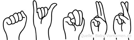 Aynur in Fingersprache für Gehörlose