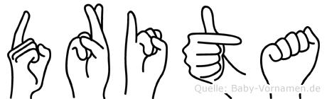 Drita in Fingersprache für Gehörlose