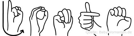 Jonte in Fingersprache für Gehörlose