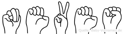Neves in Fingersprache für Gehörlose