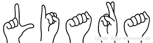 Liara in Fingersprache für Gehörlose