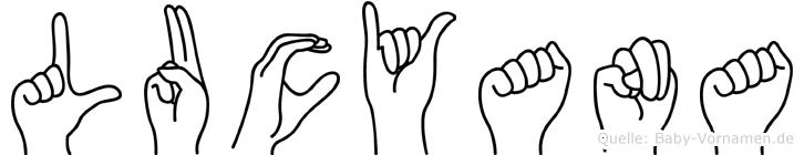Lucyana in Fingersprache für Gehörlose