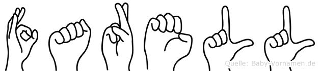 Farell im Fingeralphabet der Deutschen Gebärdensprache