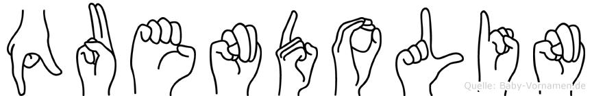 Quendolin in Fingersprache für Gehörlose