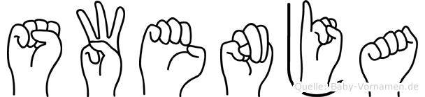 Swenja in Fingersprache für Gehörlose
