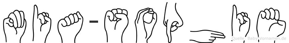 Mia-Sophie im Fingeralphabet der Deutschen Gebärdensprache