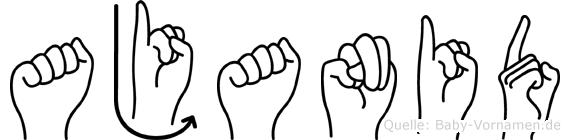 Ajanid im Fingeralphabet der Deutschen Gebärdensprache