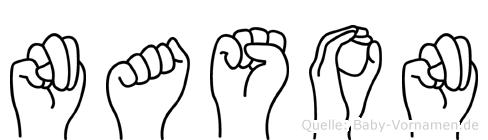 Nason im Fingeralphabet der Deutschen Gebärdensprache