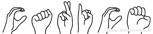 Carice in Fingersprache für Gehörlose