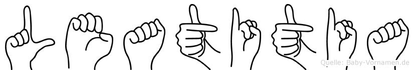 Leatitia in Fingersprache für Gehörlose