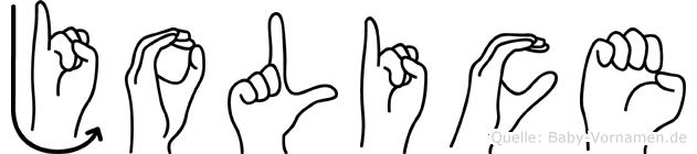Jolice in Fingersprache für Gehörlose