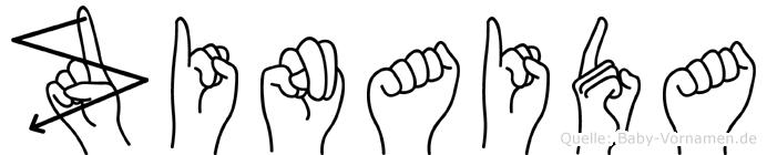 Zinaida im Fingeralphabet der Deutschen Gebärdensprache